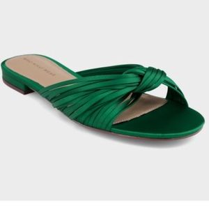 Satin Knotted Slide Sandals - Who What Wear -9